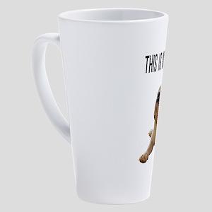 Happy Face Bulldog 17 oz Latte Mug