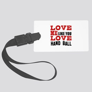 Love Me Like You Love Foosball Large Luggage Tag