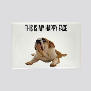 Happy Face Bulldog Magnets