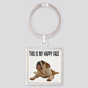 Happy Face Bulldog Keychains