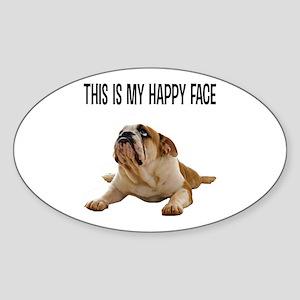 Happy Face Bulldog Sticker