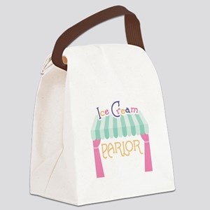 Ice Cream Parlor Canvas Lunch Bag