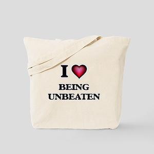 I love Being Unbeaten Tote Bag