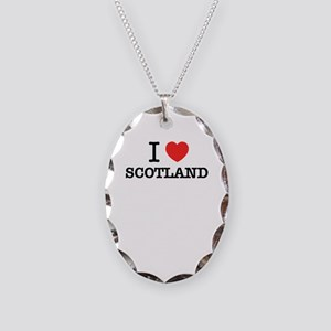 I Love SCOTLAND Necklace Oval Charm