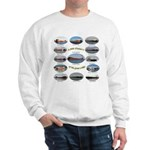 1,000 Foot Freighters On The Great Sweatshirt