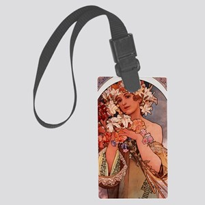 Woman Of Mucha Large Luggage Tag