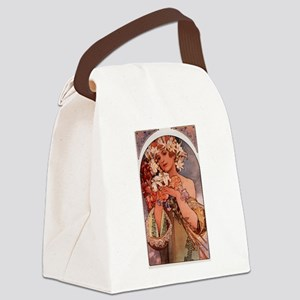 Woman of Mucha Canvas Lunch Bag