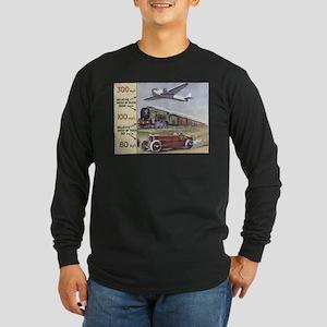 Plane, Train, Automobile Long Sleeve Dark T-Shirt