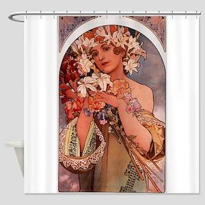 Woman of Mucha Shower Curtain