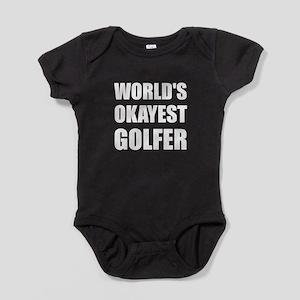 World's Okayest Golfer Baby Bodysuit