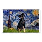 Starry / Min Pinscher Sticker (Rectangle)