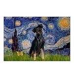 Starry / Min Pinscher Postcards (Package of 8)