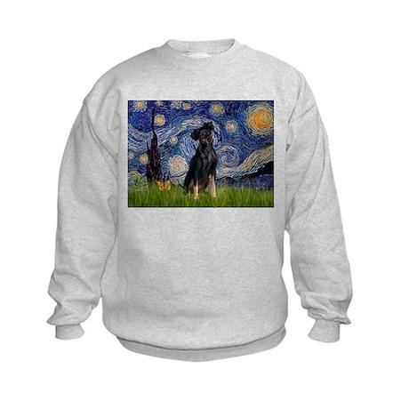 Starry / Min Pinscher Kids Sweatshirt