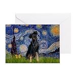Starry / Min Pinscher Greeting Card
