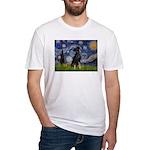 Starry / Min Pinscher Fitted T-Shirt