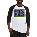 Starry / Min Pinscher Baseball Jersey