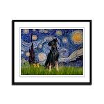 Starry / Min Pinscher Framed Panel Print