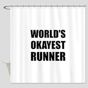 World's Okayest Runner Shower Curtain
