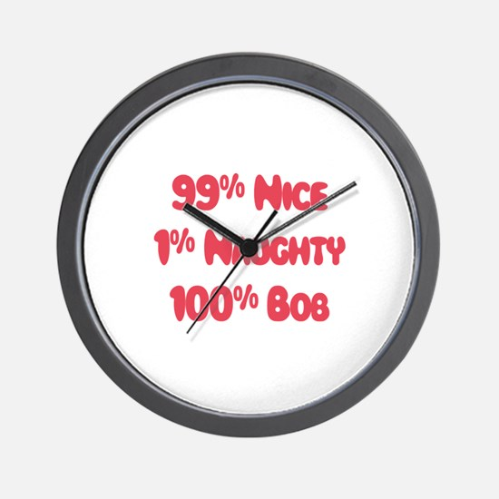Bob - 1% Naughty Wall Clock