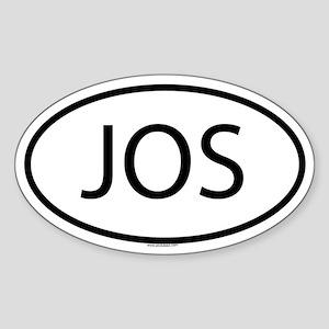 JOS Oval Sticker