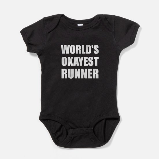 World's Okayest Runner Baby Bodysuit