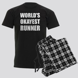 World's Okayest Runner Men's Dark Pajamas