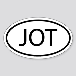 JOT Oval Sticker