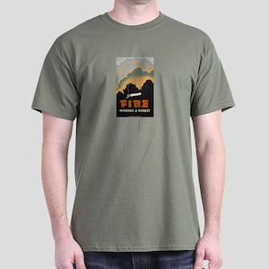 Fire Wrecks A Forest Dark T-Shirt