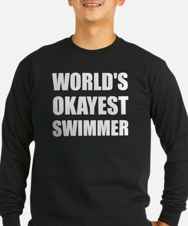 World's Okayest Swimmer Long Sleeve T-Shirt