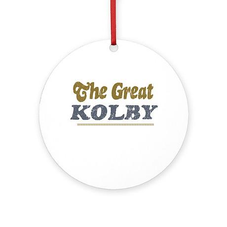 Kolby Ornament (Round)