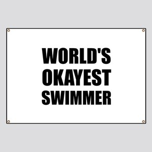 World's Okayest Swimmer Banner