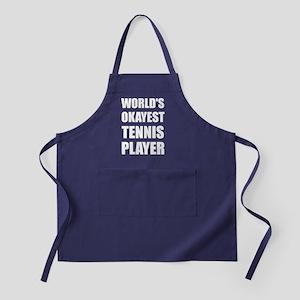 World's Okayest Tennis Player Apron (dark)