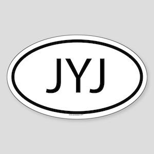 JYJ Oval Sticker