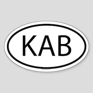 KAB Oval Sticker