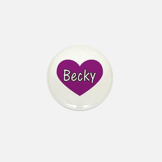 Becky Mini Button