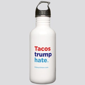 Tacos Trump Hate: Hillary 2016 Water Bottle