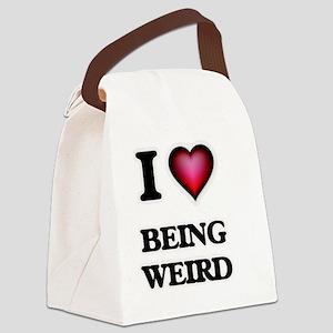 I love Being Weird Canvas Lunch Bag