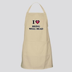 I love Being Well-Read Apron