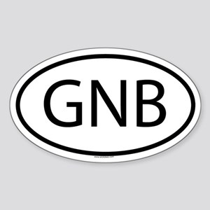 GNB Oval Sticker