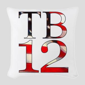 TB 12 Woven Throw Pillow