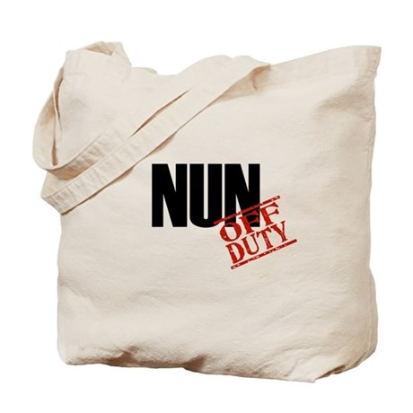 Off Duty Nun Tote Bag