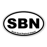 South Bend Regional Airport Oval Sticker