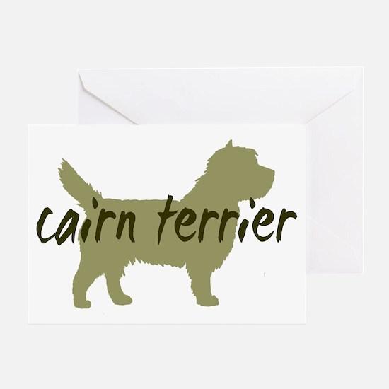 Cairn terrier Sage Greeting Card