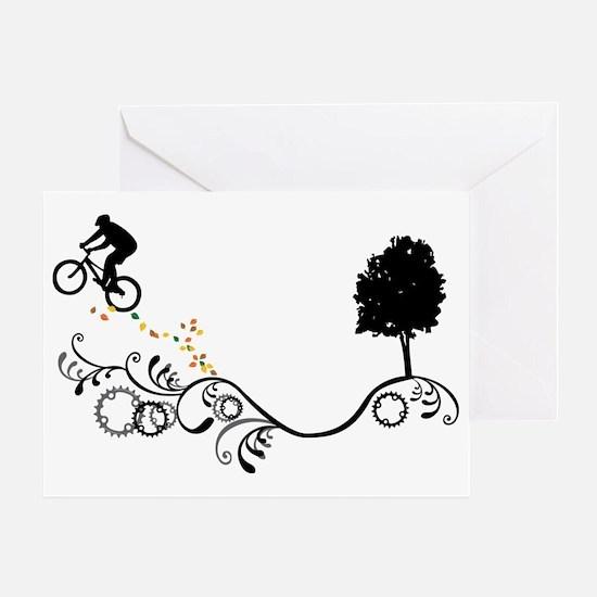 MTB-Black Greeting Cards