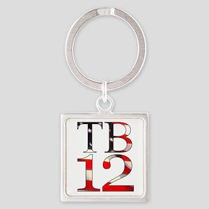 TB 12 Square Keychain