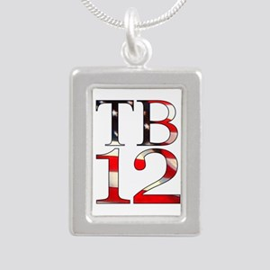 TB 12 Silver Portrait Necklace