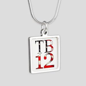 TB 12 Silver Square Necklace