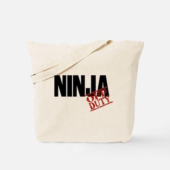 Off Duty Ninja Tote Bag