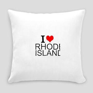 I Love Rhode Island Everyday Pillow