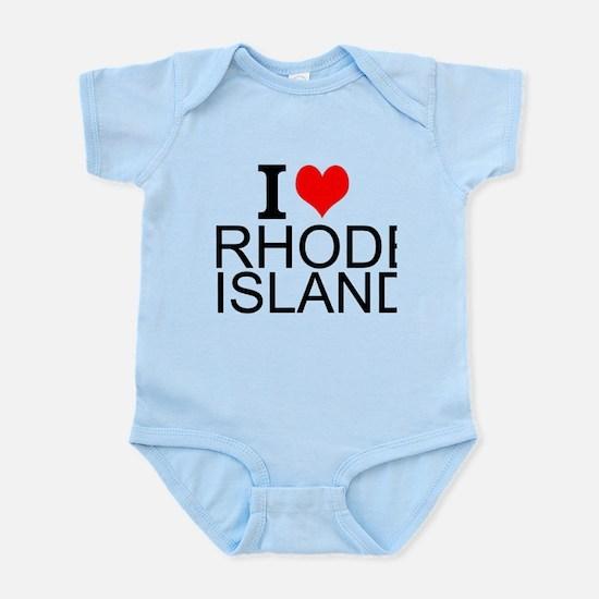 I Love Rhode Island Body Suit